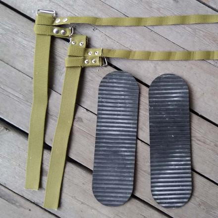 Крепления мягкие для охотничьих лыж (брезент)